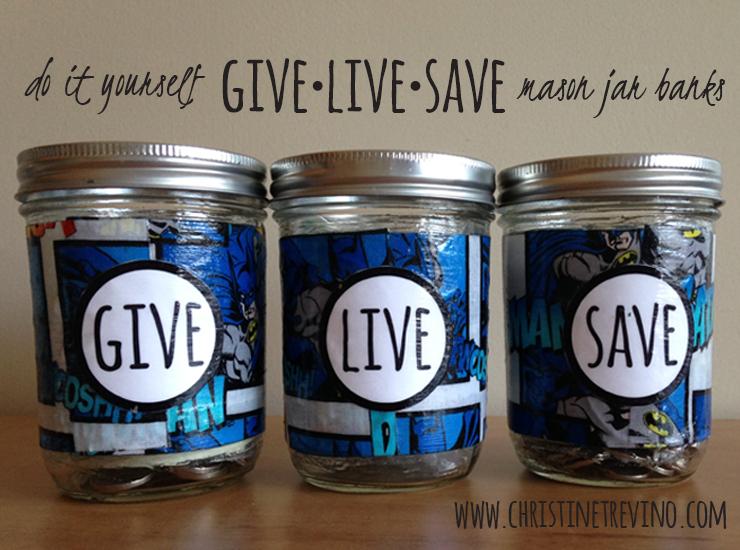 Give Live Save | SuperHero Mason Jar Banks