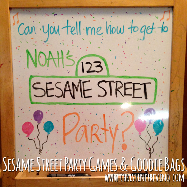 Sesame Street Party Games and Goodie Bags