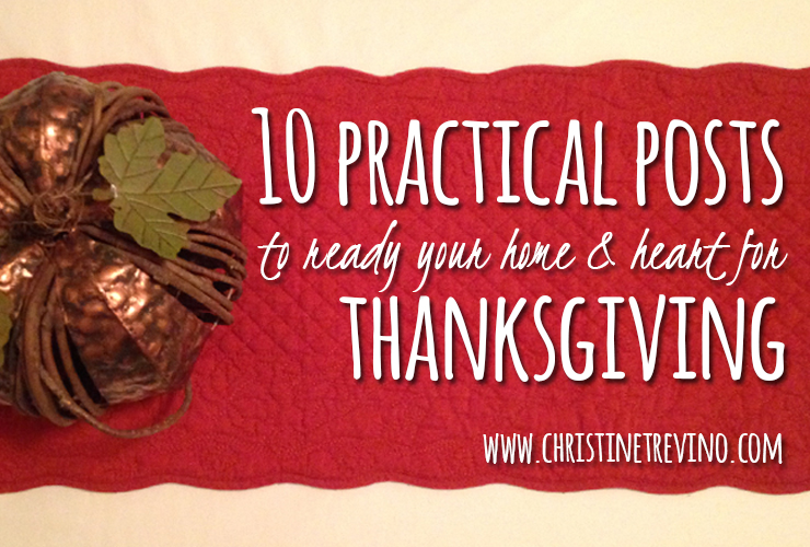 10 Practical Posts [Thanksgiving]