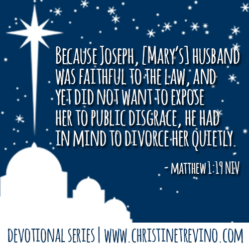 Matthew 1:19NIV