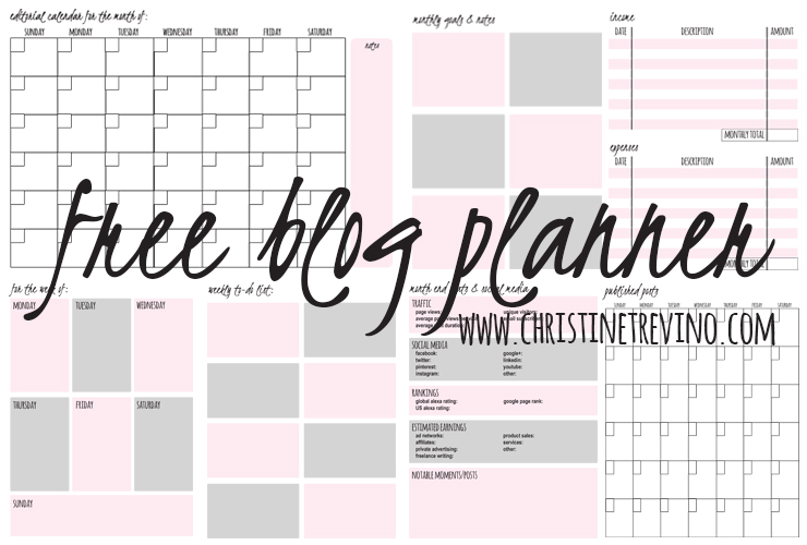 Free Blog Planner | The Listmaker's Blog Planner