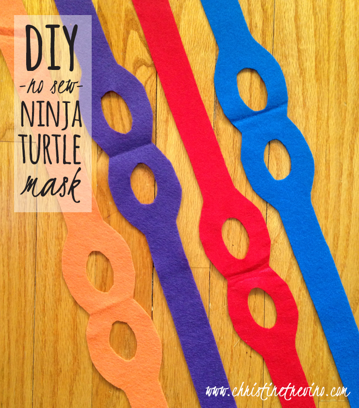 picture regarding Ninja Turtle Printable Masks identified as Do-it-yourself Ninja Turtle Mask [Totally free Printable Practice] Christine