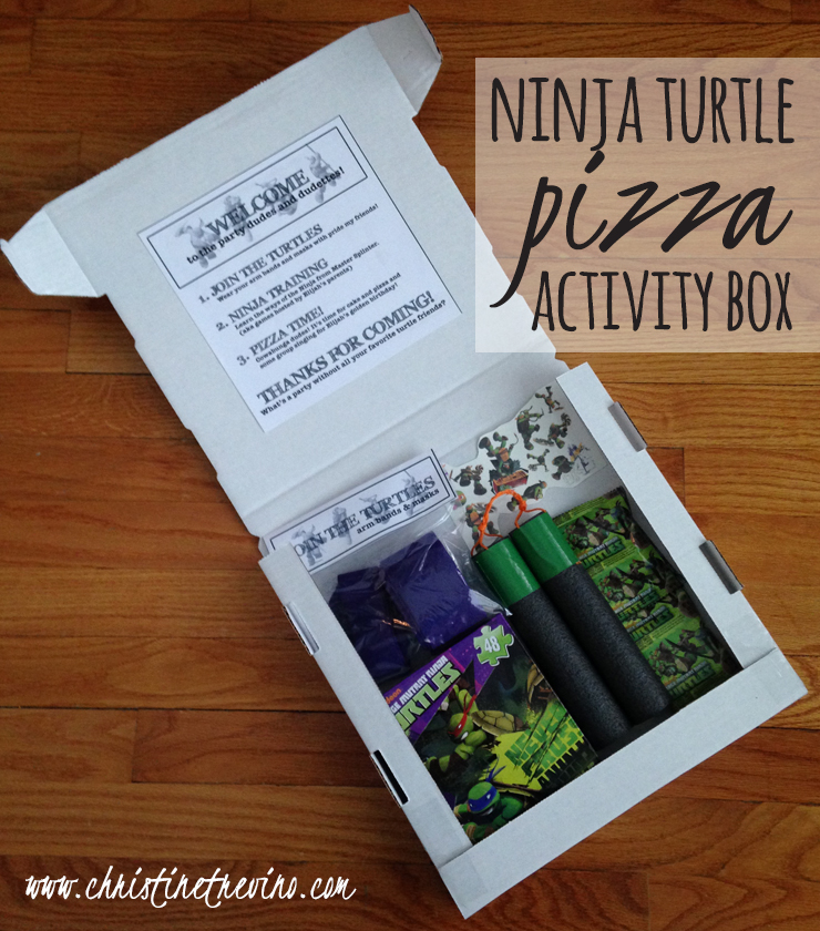 Ninja Turtle Pizza Activity Box