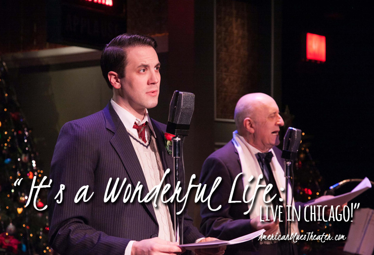 "(L to R) Zach Kenney as ""George Bailey"" and John Mohrlein as ""Mr. Potter."" Photo by Johnny Knight"