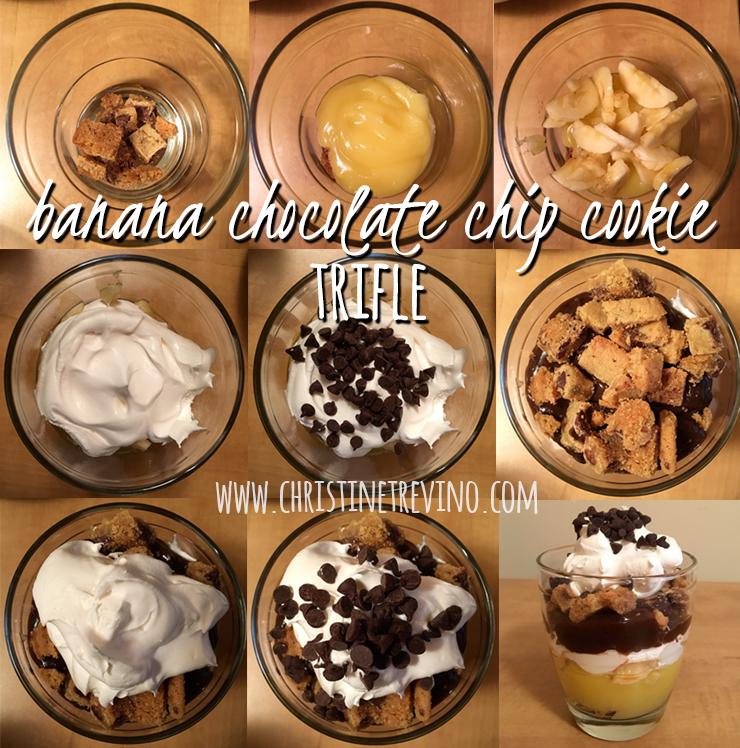 Banana Chocolate Chip Cookie Trifle