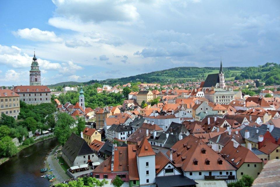 Aussicht Schlosspark Český Krumlov