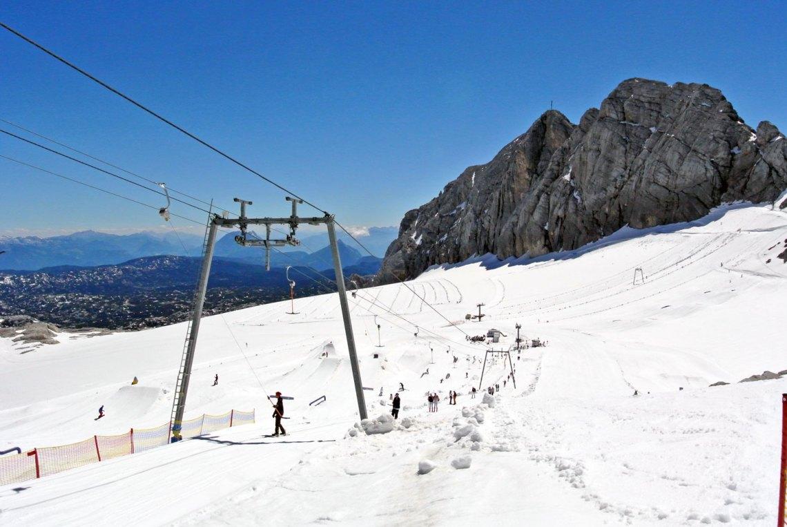 Skifahren am Dachstein Gletscher