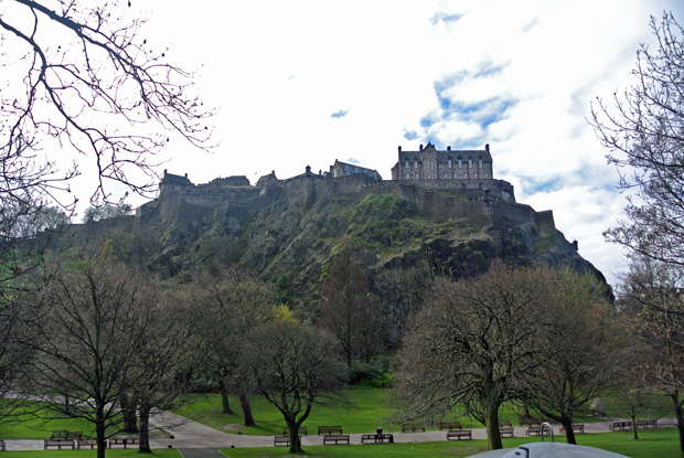 Castle Rock mit Edinburgh Castle
