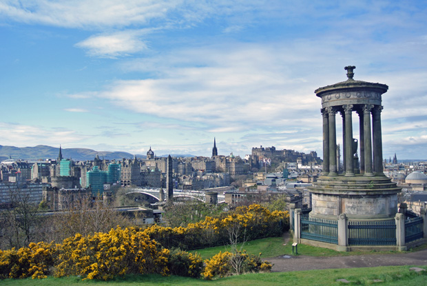 Ausblick vom Calton Hill Edinburgh