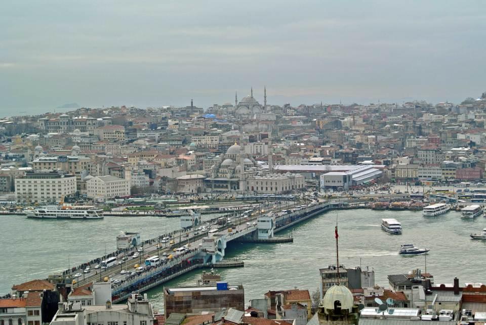 Blick auf Galatabrücke und die Altstadt