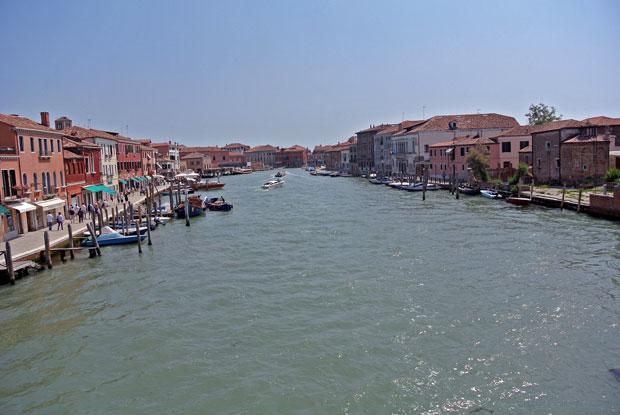 Blick auf den Kanal in Murano
