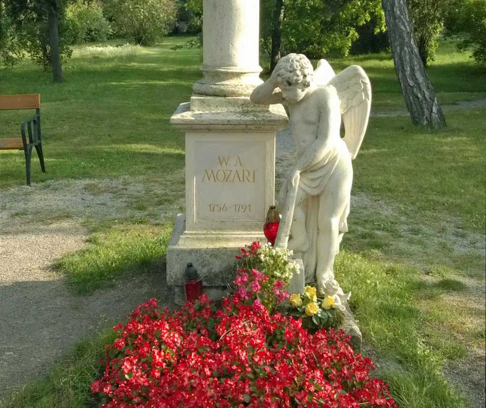 Mozart-Grab am St. Marxer Friedhof