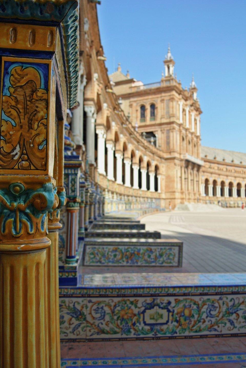 Plaza de España in Andalusien, Spanien