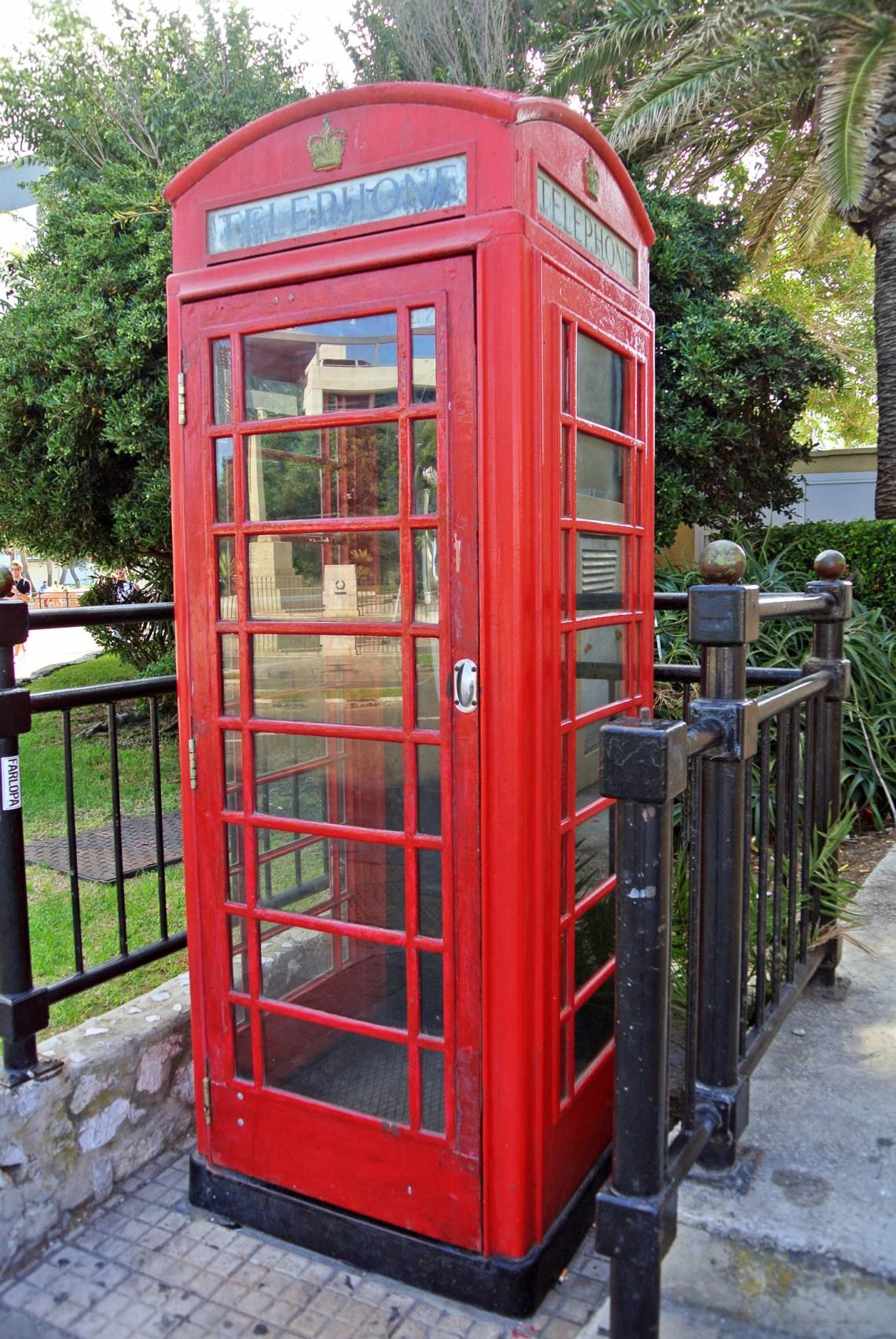 Rote Telefonzelle Gibraltar