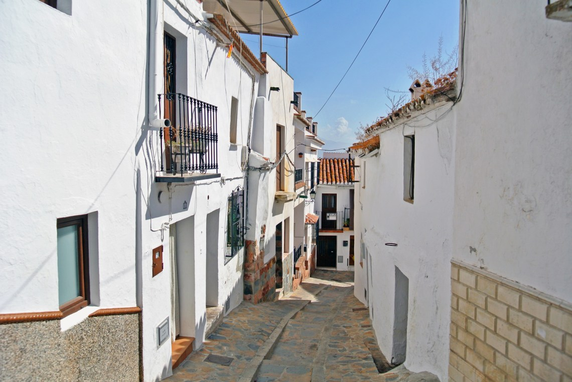 Comares, weißes Dorf in Andalusien