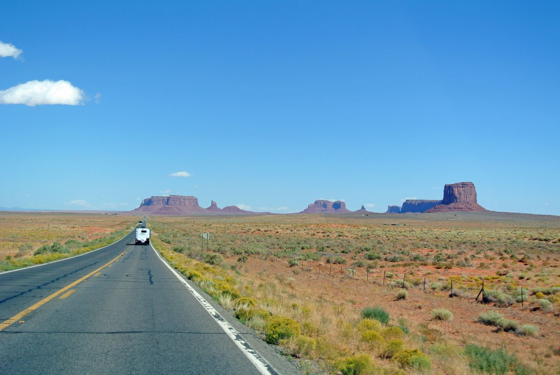 Fahrt ins Monument Valley