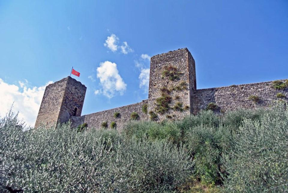 Die Stadtmauer von Monteriggioni