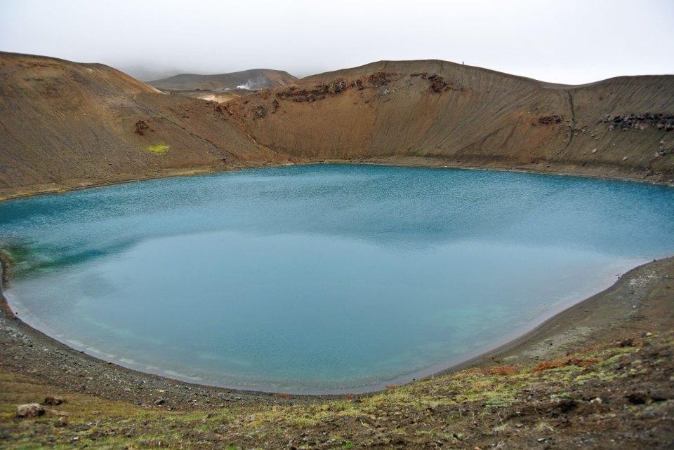 Víti Island Myvatn