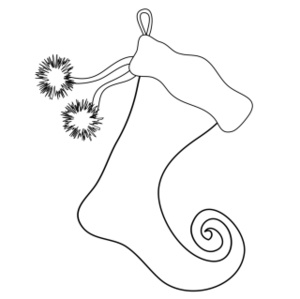 free stocking clip art image christmas stocking coloring page