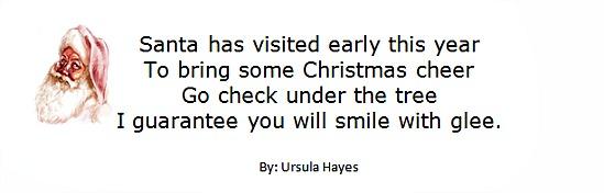 Secret Santa Poems Clever Sayings