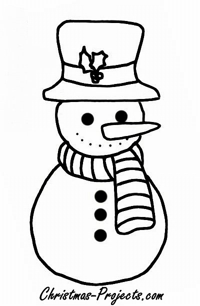 snowman coloring book page