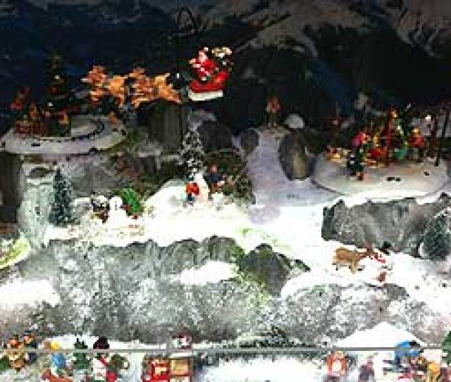 Photograph Of My Village Mountain At Retail Stores Christmas Display