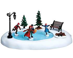 Image Of Winter Skating A Miniature Ice Rink Designed For Lemax Christmas Villages
