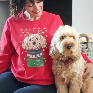 Christmas jumper with dog image