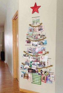 xmas card tree decoration