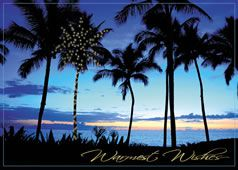 Tropical Amp Beach Scene Personalized Christmas Cards