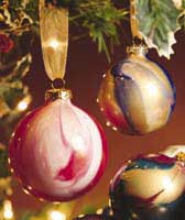 Painted ball Christmas ornaments