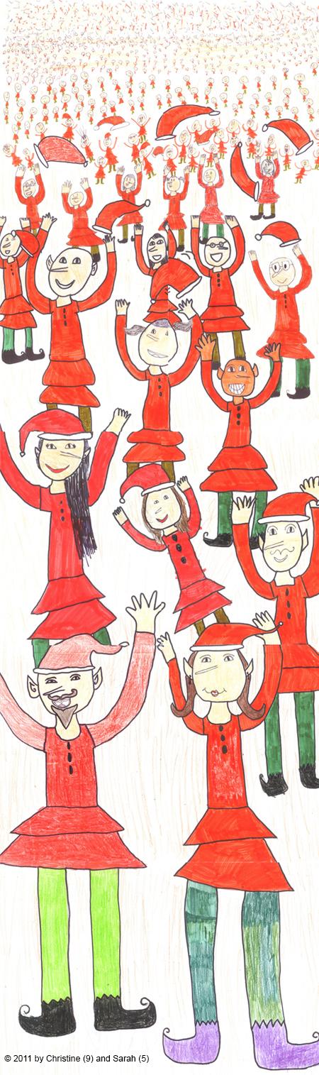 elves, childrens drawing, creative children