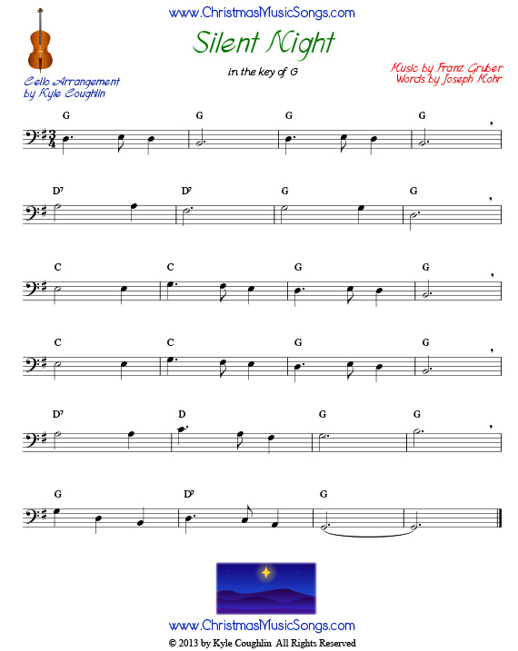 Silent Night For Cello Free Sheet Music
