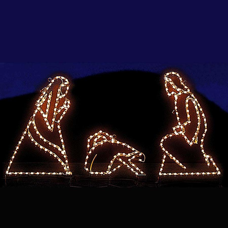 Christmas Holiday Light Yard Display