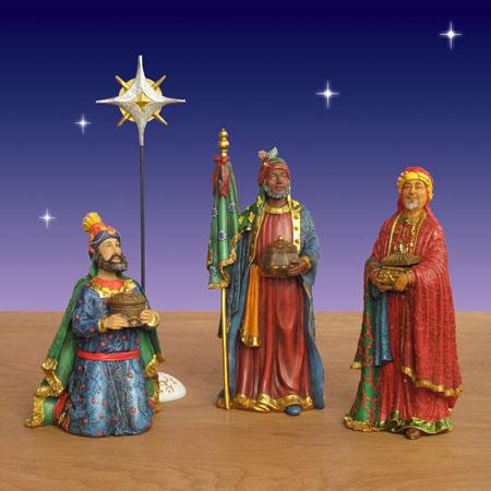 Three Kings Real Life Nativity Set 17 Pc 14 Scale
