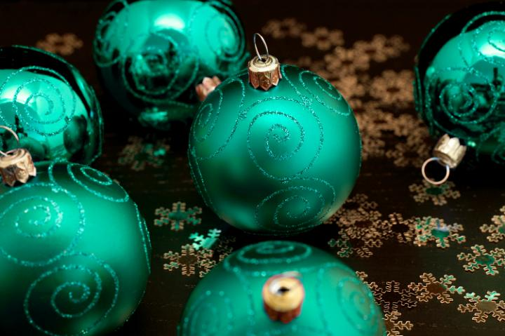 Photo Of Emerald Green Christmas Balls Free Christmas Images
