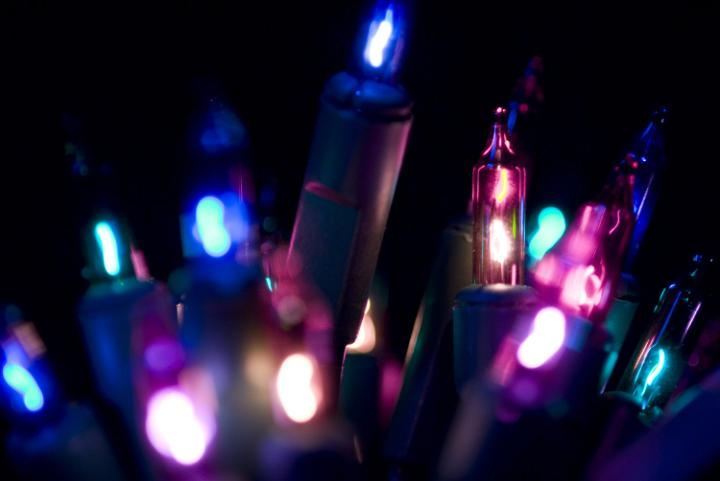 Photo Of Purple And Pink Fairy Lights Free Christmas Images