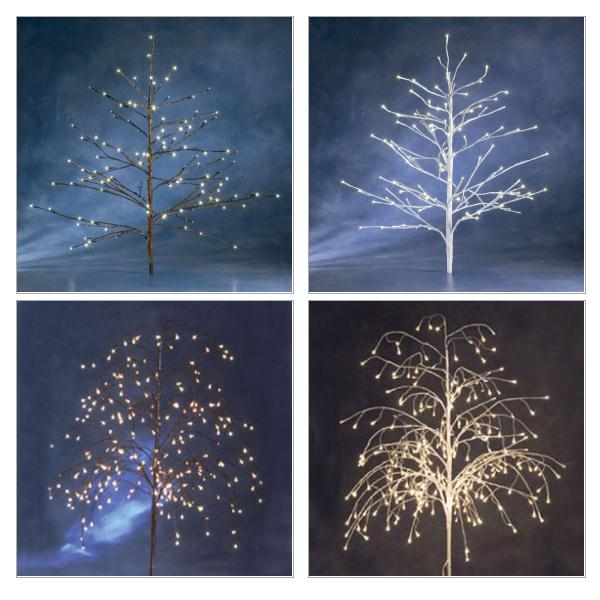Konstsmide Outdoor Decorative Twig Tree With Natural White LED Fairy Lights Black Cable