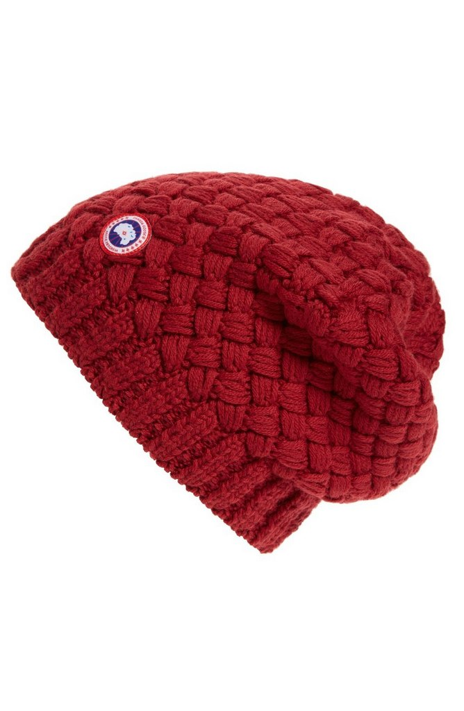 Slouchy Basketweave Beanie by Canada Goose | $70