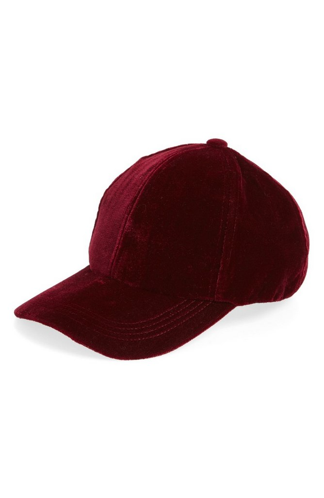 Velvet Baseball Cap by Berry | $32
