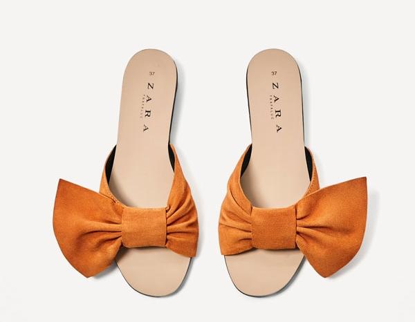 Zara Split Suede Slides with Bow Details - 15 Travel Sandals for Summer - Christobel Travel