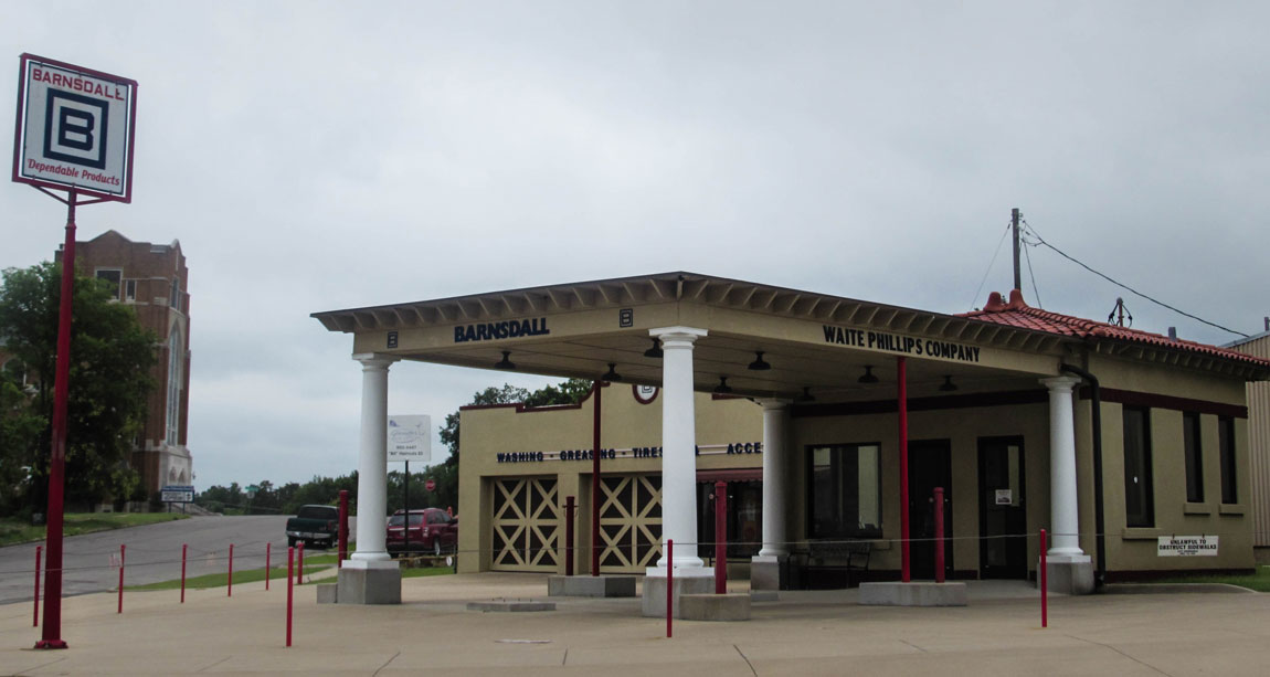 Waite Phillips Filling Station Museum - Route 66 Oklahoma: All Towns and Attractions to See - Christobel Travel