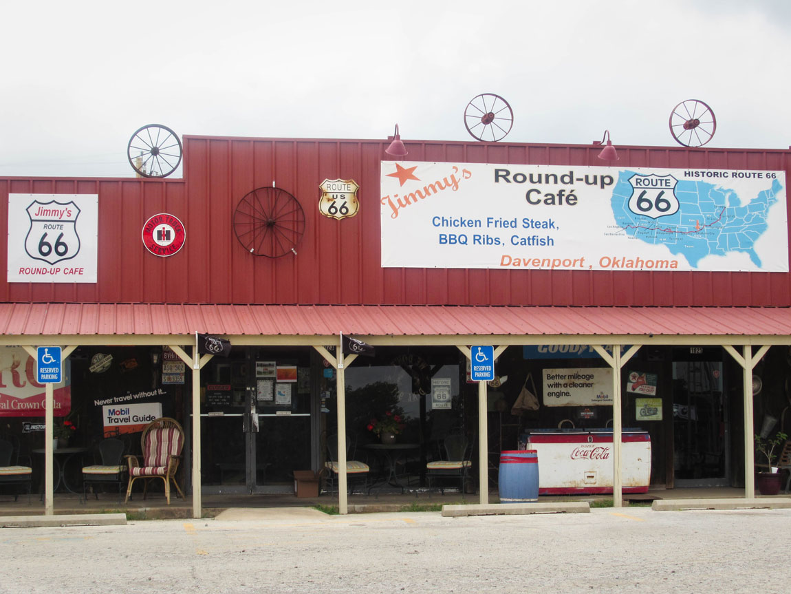Round Up Cafe Davenport - Route 66 Oklahoma: All Towns and Attractions to See - Christobel Travel