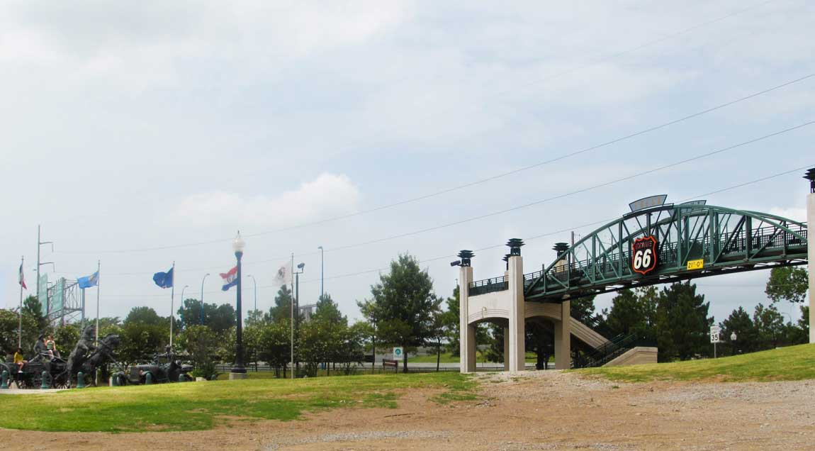 Arkansas River Bridge on 11th Street, Tulsa - Route 66 Oklahoma: All Towns and Attractions to See - Christobel Travel
