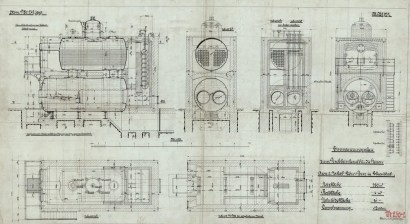 Plan von 1909: durch FMT-Ingenieure in die Christof Industries eingebracht