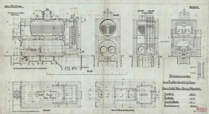 Plan von 1909: durch FMT-Ingenieure in die Christof Industries eingebracht