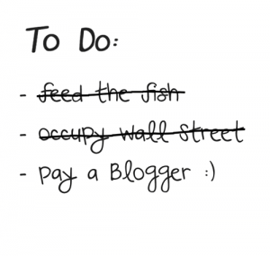 Pay a Blogger Day. Image by Christoph Amthor