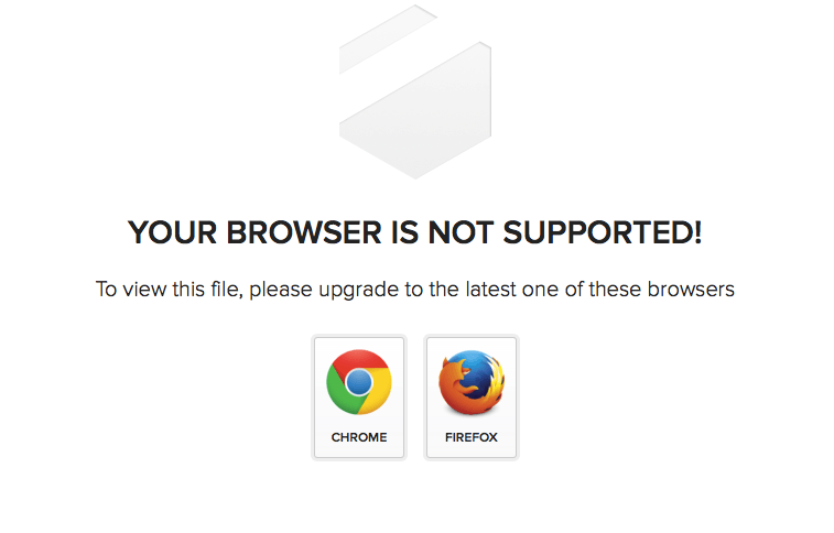 Tresorit: Browser not supported