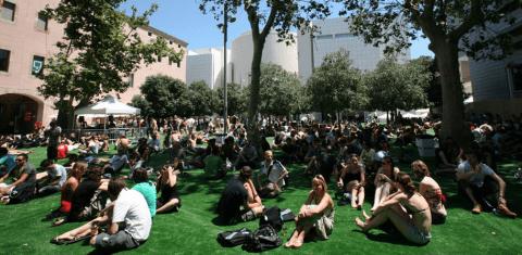 Auf Entdeckungsreise: Besucher des Sonar-Festivals
