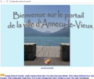 page accueil piratée